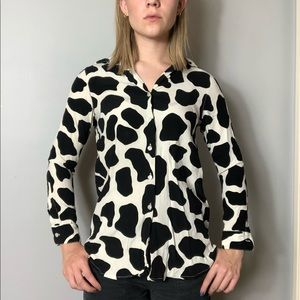 Urban Outfitters Tops - Cow Print Button Down